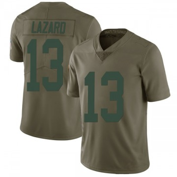Men's Allen Lazard Green Bay Packers Limited Green 2017 Salute to Service Jersey