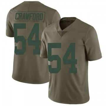 Men's James Crawford Green Bay Packers Limited Green 2017 Salute to Service Jersey