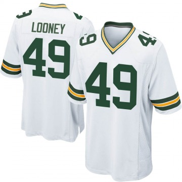 Men's James Looney Green Bay Packers Game White Jersey