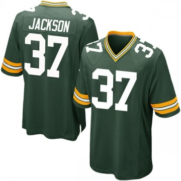 Men's Josh Jackson Green Bay Packers Game Green Team Color Jersey