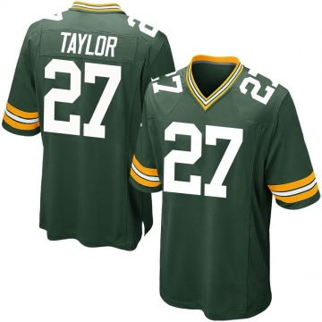 Men's Patrick Taylor Jr. Green Bay Packers Game Green Team Color Jersey