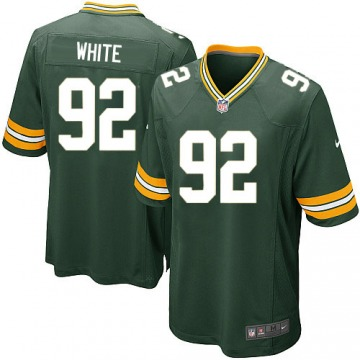 Men's Reggie White Green Bay Packers Game Green Team Color Jersey
