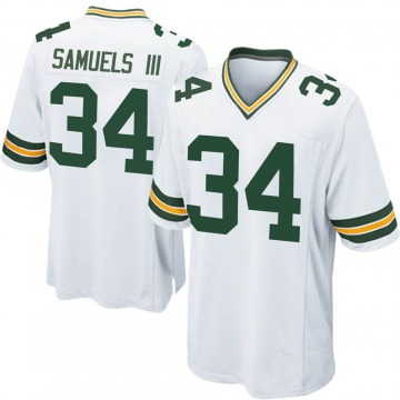 Men's Stanford Samuels III Green Bay Packers Game White Jersey
