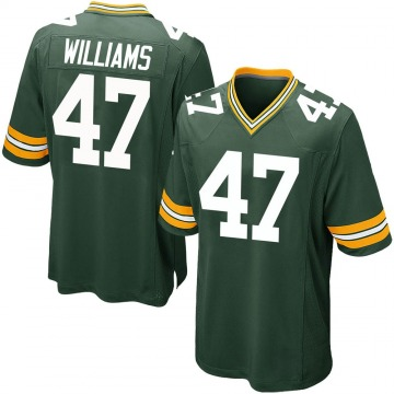 Men's Tim Williams Green Bay Packers Game Green Team Color Jersey