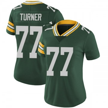 Women's Billy Turner Green Bay Packers Limited Green Team Color Vapor Untouchable Jersey