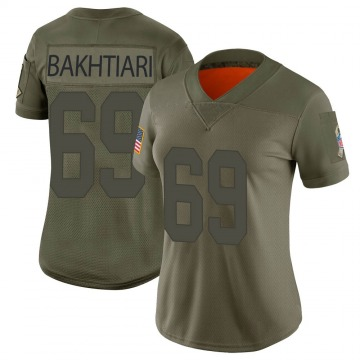 Women's David Bakhtiari Green Bay Packers Limited Camo 2019 Salute to Service Jersey