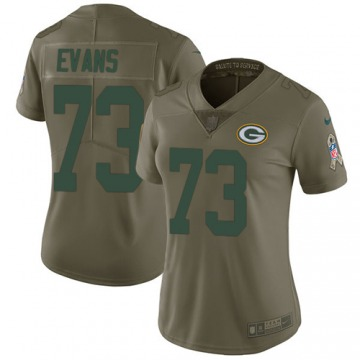 Women's Jahri Evans Green Bay Packers Limited Olive 2017 Salute to Service Jersey