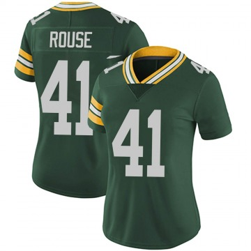 Women's Nydair Rouse Green Bay Packers Limited Green Team Color Vapor Untouchable Jersey