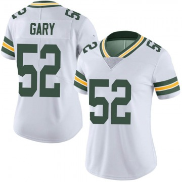 Women's Rashan Gary Green Bay Packers Limited White Vapor Untouchable Jersey