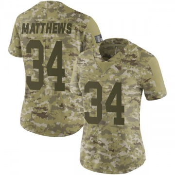 Women's Tray Matthews Green Bay Packers Limited Camo 2018 Salute to Service Jersey