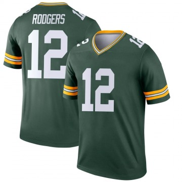 Youth Aaron Rodgers Green Bay Packers Legend Green Jersey