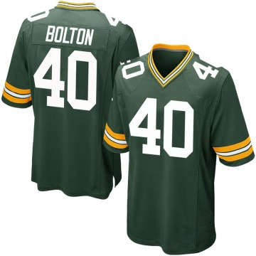 Youth Curtis Bolton Green Bay Packers Game Green Team Color Jersey