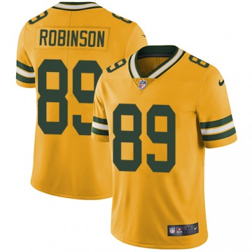 Youth Dave Robinson Green Bay Packers Limited Gold Color Rush Jersey
