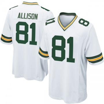Youth Geronimo Allison Green Bay Packers Game White Jersey