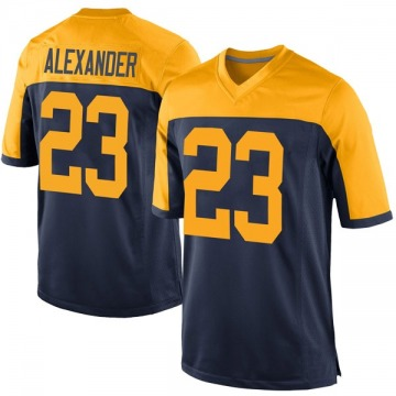 Youth Jaire Alexander Green Bay Packers Game Navy Alternate Jersey