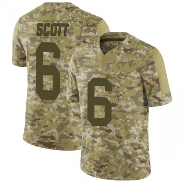 Youth JK Scott Green Bay Packers Limited Camo 2018 Salute to Service Jersey