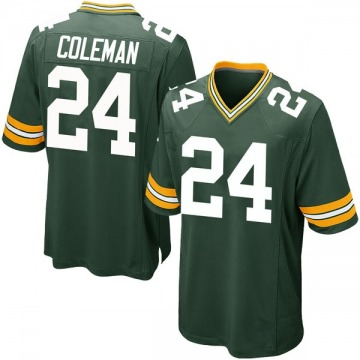 Youth Lavon Coleman Green Bay Packers Game Green Team Color Jersey