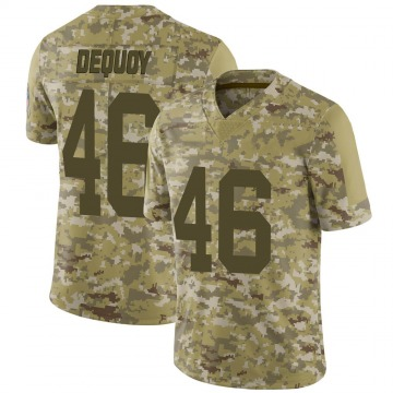 Youth Marc-Antoine Dequoy Green Bay Packers Limited Camo 2018 Salute to Service Jersey