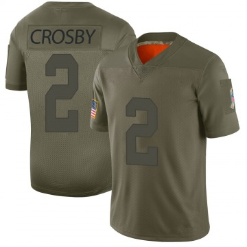 Youth Mason Crosby Green Bay Packers Limited Camo 2019 Salute to Service Jersey