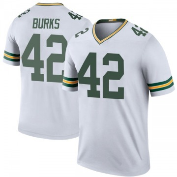Youth Oren Burks Green Bay Packers Legend White Color Rush Jersey