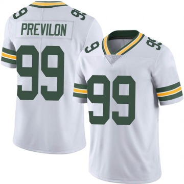 Youth Willington Previlon Green Bay Packers Limited White Vapor Untouchable Jersey